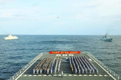 南海舰队曾母暗沙宣誓主权