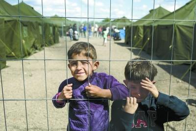 来自叙利亚的难民儿童