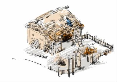 农村屋顶盖瓦步骤图