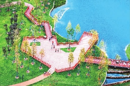景映水中,人在画中.  (本版图片由长沙市生态环境局提供)图片