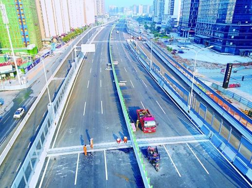 神武化险为夷:湘府路快改项目主线全部贯通