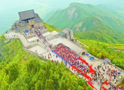 南岳衡山迎旅游旺季