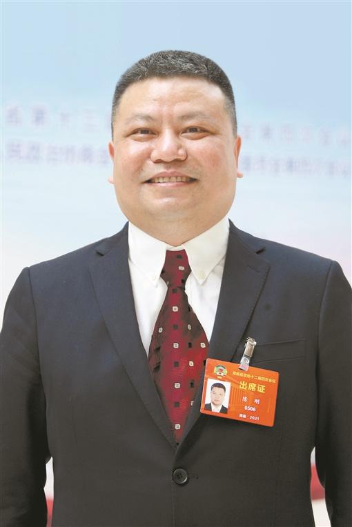 陈刚委员。湖南日报记者 罗新国 摄